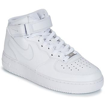 Cipők Férfi Magas szárú edzőcipők Nike AIR FORCE 1 MID 07 LEATHER Fehér