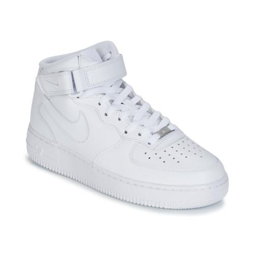 Cipők Férfi Magas szárú edzőcipők Nike AIR FORCE 1 MID 07 LEATHER Fehér b54b85c09c