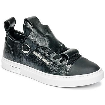 Cipők Női Rövid szárú edzőcipők Armani jeans RATONE Fekete