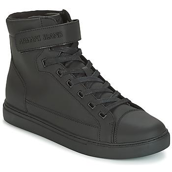 Cipők Férfi Magas szárú edzőcipők Armani jeans JEFEM Fekete