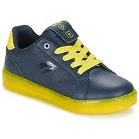 Shoes Fiú Rövid szárú edzőcipők Geox J KOMMODOR B.B Tengerész / Citromsárga