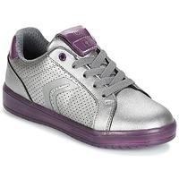 Cipők Lány Rövid szárú edzőcipők Geox J KOMMODOR G.A Ezüst / Szilva