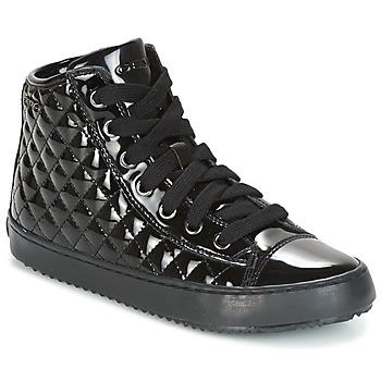 Cipők Lány Magas szárú edzőcipők Geox J KALISPERA G.F Fekete