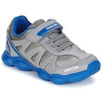 Cipők Fiú Rövid szárú edzőcipők Geox J MUNFREY B. A Szürke / Kék