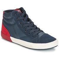 Cipők Fiú Magas szárú edzőcipők Geox J ALONISSO B. A Tengerész / Piros