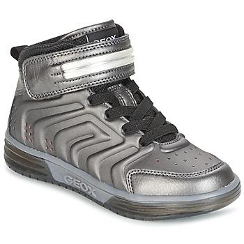 Shoes Fiú Magas szárú edzőcipők Geox J ARGONAT B. B Fekete