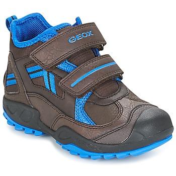 Cipők Fiú Rövid szárú edzőcipők Geox J N.SAVAGE B.B Barna / Kék