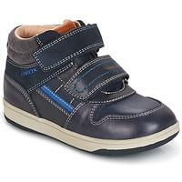Cipők Fiú Magas szárú edzőcipők Geox B NEW FLICK B. A Tengerész / Kék