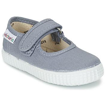 Cipők Lány Balerina cipők / babák Victoria MERCEDES VELCRO LONA Szürke