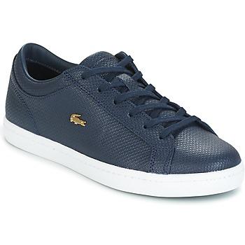 Shoes Női Rövid szárú edzőcipők Lacoste STRAIGHTSET Tengerész
