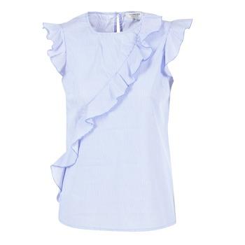 material Női Blúzok Morgan MARFIZ Kék / Fehér