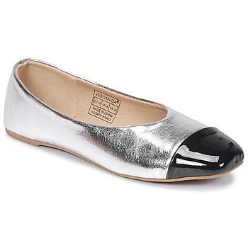 Cipők Női Balerina cipők / babák Vero Moda STAR BALLERINA Ezüst / Fekete