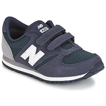 Cipők Gyerek Rövid szárú edzőcipők New Balance KE421 Tengerész / Szürke