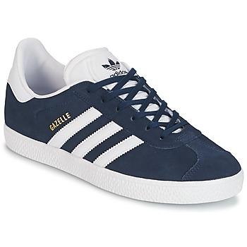 Cipők Fiú Rövid szárú edzőcipők adidas Originals GAZELLE J Tengerész