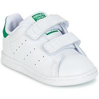 Cipők Fiú Rövid szárú edzőcipők adidas Originals STAN SMITH CF I Fehér / Zöld