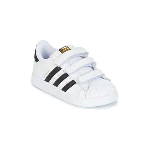 Cipők Gyerek Rövid szárú edzőcipők adidas Originals SUPERSTAR CF I Fehér / Fekete