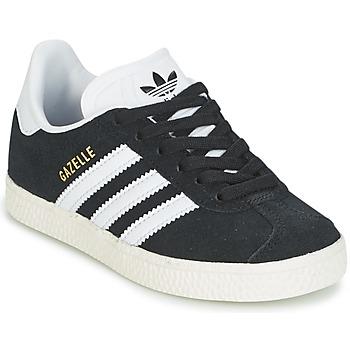 Cipők Gyerek Rövid szárú edzőcipők adidas Originals GAZELLE C Fekete