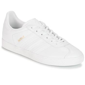 Cipők Gyerek Rövid szárú edzőcipők adidas Originals GAZELLE J Fehér