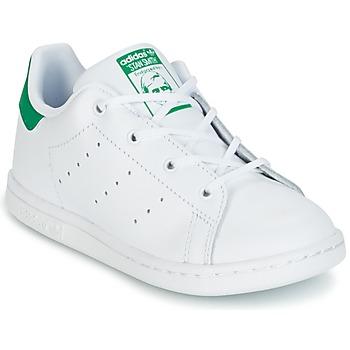 Cipők Gyerek Rövid szárú edzőcipők adidas Originals STAN SMITH I Fehér / Zöld
