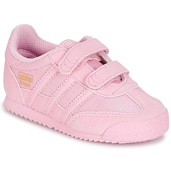 Cipők Lány Rövid szárú edzőcipők adidas Originals DRAGON OG CF C Rózsaszín