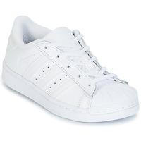 Cipők Gyerek Rövid szárú edzőcipők adidas Originals SUPERTSAR Fehér