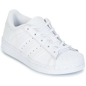 Cipők Lány Rövid szárú edzőcipők adidas Originals SUPERSTAR Fehér