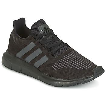 Cipők Gyerek Rövid szárú edzőcipők adidas Originals SWIFT RUN J Fekete