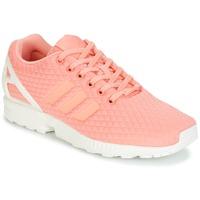 Cipők Női Rövid szárú edzőcipők adidas Originals ZX FLUX W Rózsaszín / Fehér