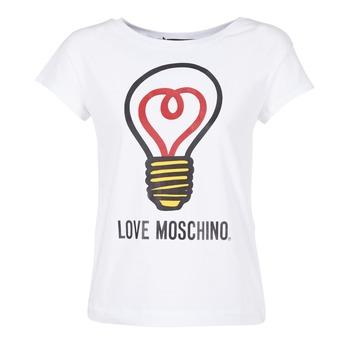 Ruhák Női Rövid ujjú pólók Love Moschino W4F3038E1512 Fehér