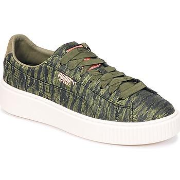 Cipők Női Rövid szárú edzőcipők Puma Basket Platform Bi Color Keki