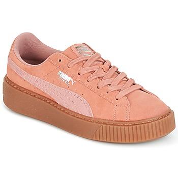 Cipők Női Rövid szárú edzőcipők Puma Suede Platform Core Gum Rózsaszín