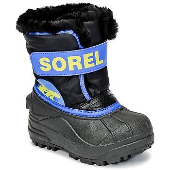 Cipők Gyerek Hótaposók Sorel CHILDRENS SNOW COMMANDER Fekete  / Kék