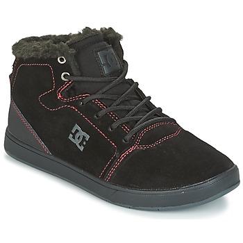 Cipők Gyerek Magas szárú edzőcipők DC Shoes CRISIS HIGH WNT Fekete  / Piros / Fehér