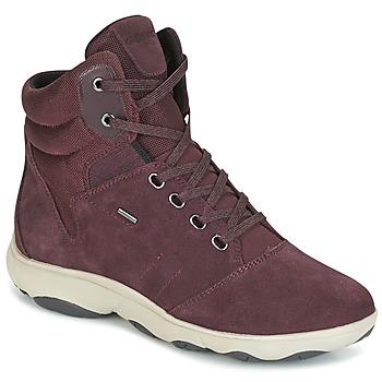 Cipők Női Magas szárú edzőcipők Geox D NEBULA 4 X 4 B ABX Bordó