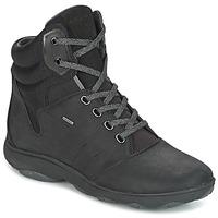 Cipők Női Magas szárú edzőcipők Geox D NEBULA 4 X 4 B ABX Fekete