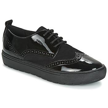 Cipők Női Oxford cipők Geox D BREEDA Fekete