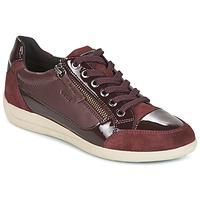 Cipők Női Rövid szárú edzőcipők Geox D MYRIA Bordó