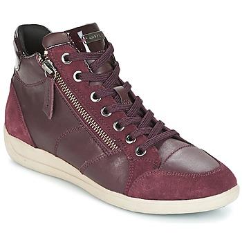 Cipők Női Magas szárú edzőcipők Geox D MYRIA Bordó