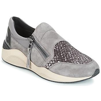 Cipők Női Rövid szárú edzőcipők Geox D OMAYA Szürke