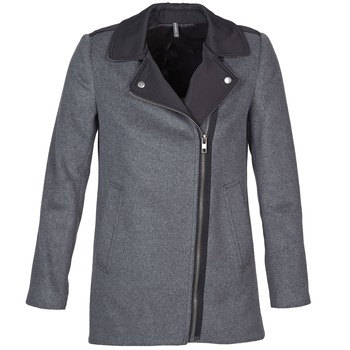 Ruhák Női Kabátok Naf Naf ARNO Szürke / Fekete