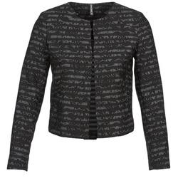 Ruhák Női Kabátok / Blézerek Naf Naf LYMINIE Szürke / Fekete