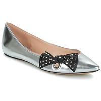 Cipők Női Balerina cipők / babák Marc Jacobs RITA POINTY TOE Ezüst