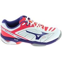 Cipők Női Rövid szárú edzőcipők Mizuno Wave Exceed CC Blanc Fehér