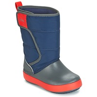 Shoes Gyerek Hótaposók Crocs LODGEPOINT SNOW BOOT K Tengerész