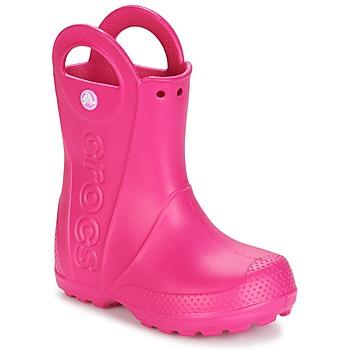 Cipők Lány Gumicsizmák Crocs HANDLE IT RAIN BOOT Rózsaszín