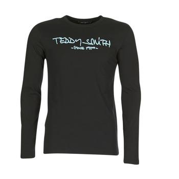 Ruhák Férfi Hosszú ujjú pólók Teddy Smith TICLASS 3 ML Fekete
