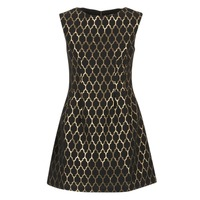 Ruhák Női Rövid ruhák Molly Bracken DIRCO Fekete  / Arany