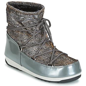 Cipők Női Hótaposók Moon Boot MOON BOOT LOW LUREX Szürke / Ezüst