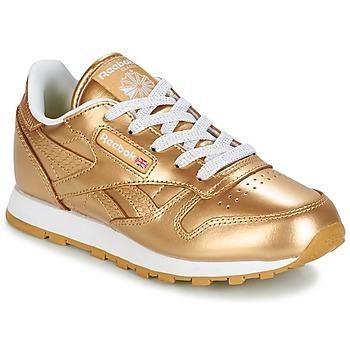 Shoes Lány Rövid szárú edzőcipők Reebok Classic CLASSIC LEATHER MET Arany