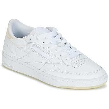 Shoes Női Rövid szárú edzőcipők Reebok Classic CLUB C 85 L THR Fehér